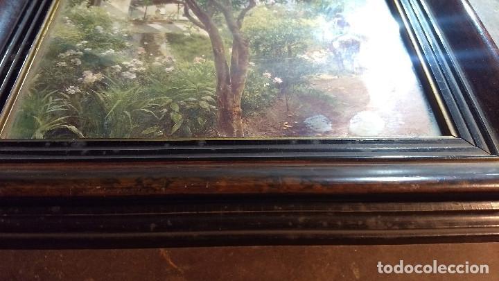 Antigüedades: Pareja de marcos antiguos de madera con cristal - Foto 6 - 211692720