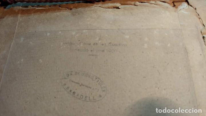 Antigüedades: Pareja de marcos antiguos de madera con cristal - Foto 10 - 211692720
