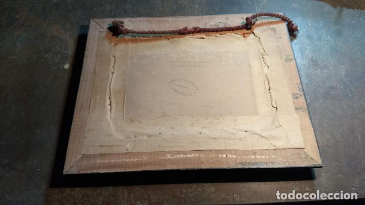 Antigüedades: Pareja de marcos antiguos de madera con cristal - Foto 12 - 211692720