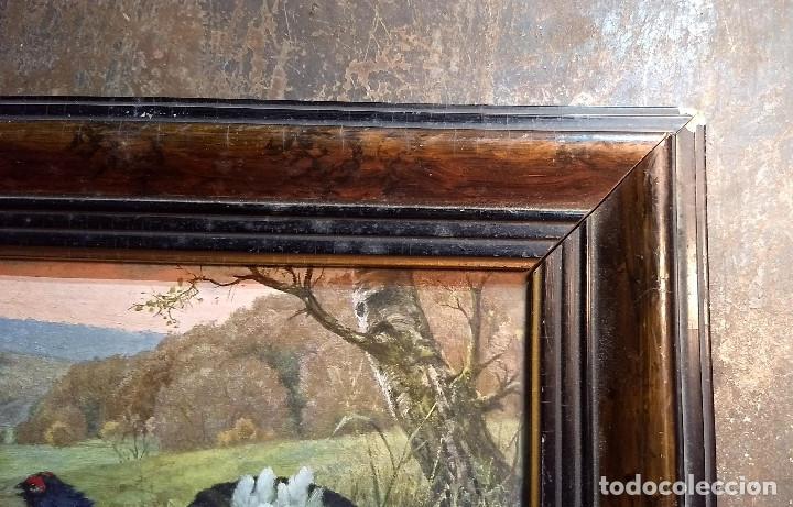 Antigüedades: Pareja de marcos antiguos de madera con cristal - Foto 13 - 211692720