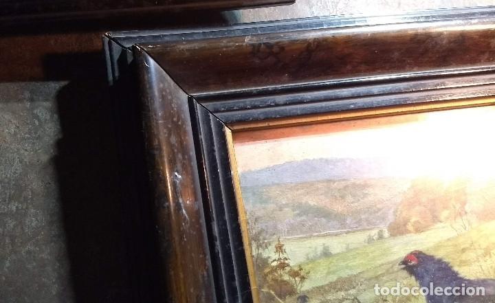 Antigüedades: Pareja de marcos antiguos de madera con cristal - Foto 14 - 211692720