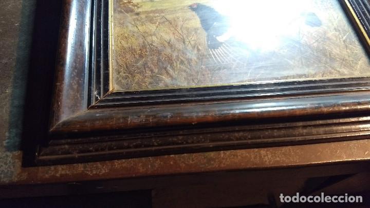 Antigüedades: Pareja de marcos antiguos de madera con cristal - Foto 15 - 211692720