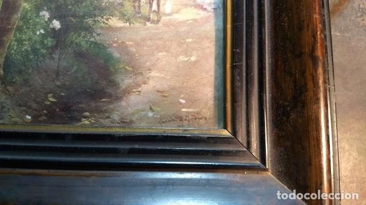 Antigüedades: Pareja de marcos antiguos de madera con cristal - Foto 18 - 211692720