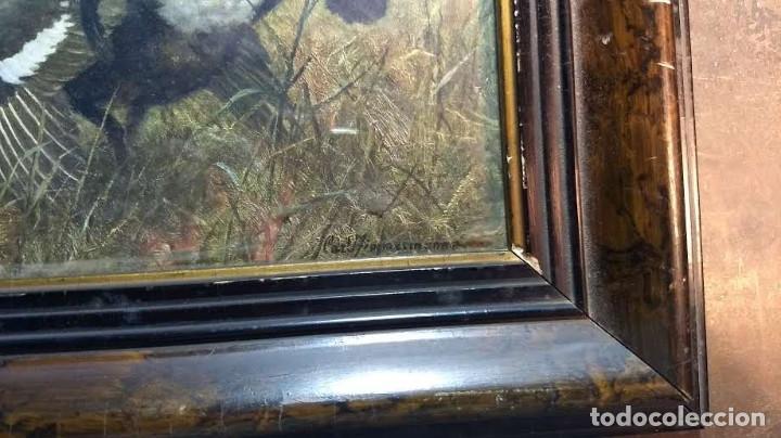 Antigüedades: Pareja de marcos antiguos de madera con cristal - Foto 19 - 211692720