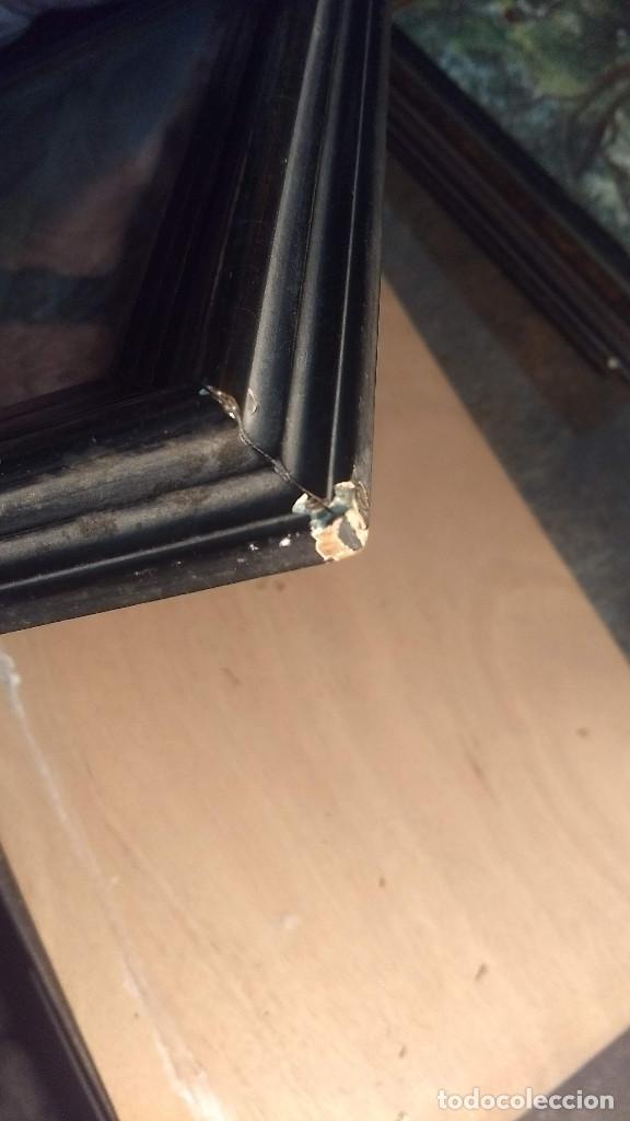 Antigüedades: Pareja de marcos antiguos de madera con cristal - Foto 21 - 211692720