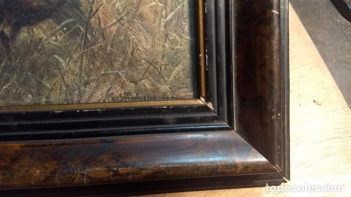 Antigüedades: Pareja de marcos antiguos de madera con cristal - Foto 22 - 211692720