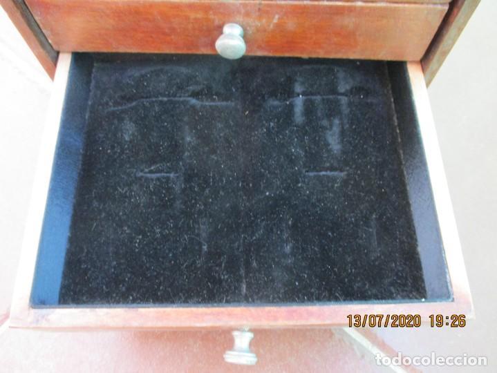 Antigüedades: CAJONERA. PARA JOYAS. 5 CAJONES DE MADERA NOBLE. 21 X 20 X 17 CMS. ANTIGUO Y EN BUEN ESTADO - Foto 5 - 211697573