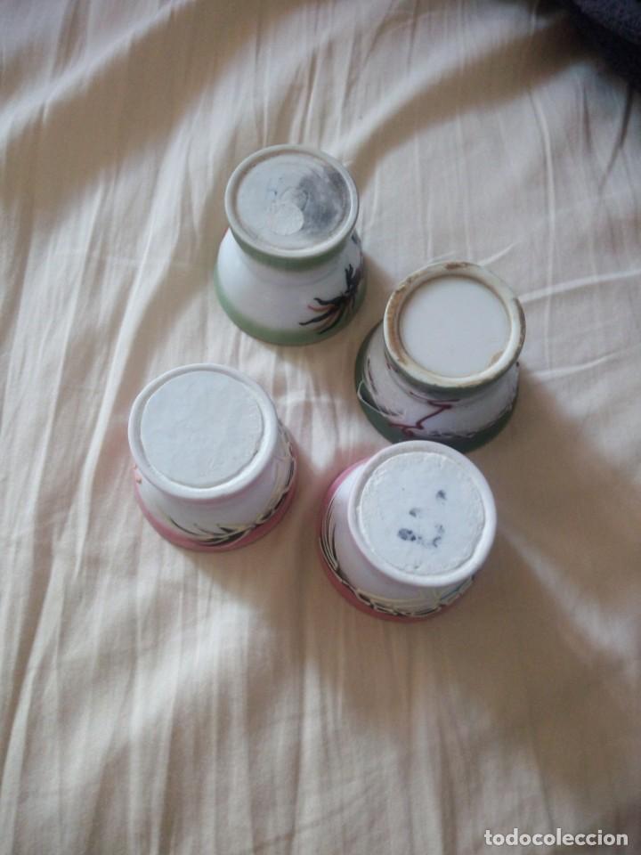 Antigüedades: Lote de 4 vasitos de porcelana china con imagen en el interior,se ve al poner el liquido. - Foto 3 - 211699018
