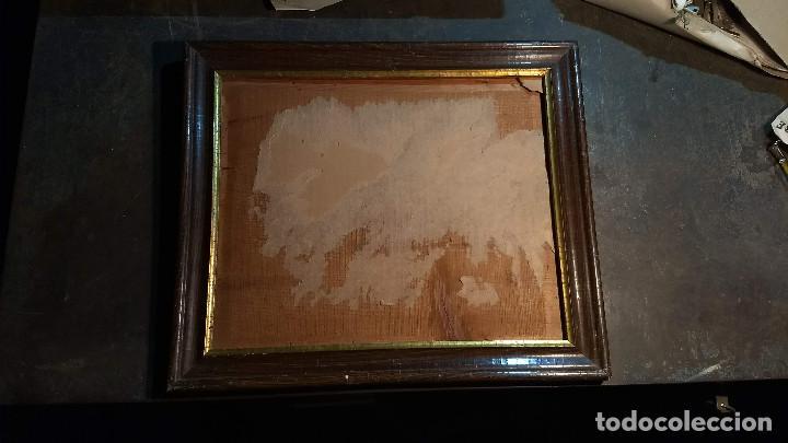 Antigüedades: Marco madera, barniz craquelado - Foto 2 - 211699403