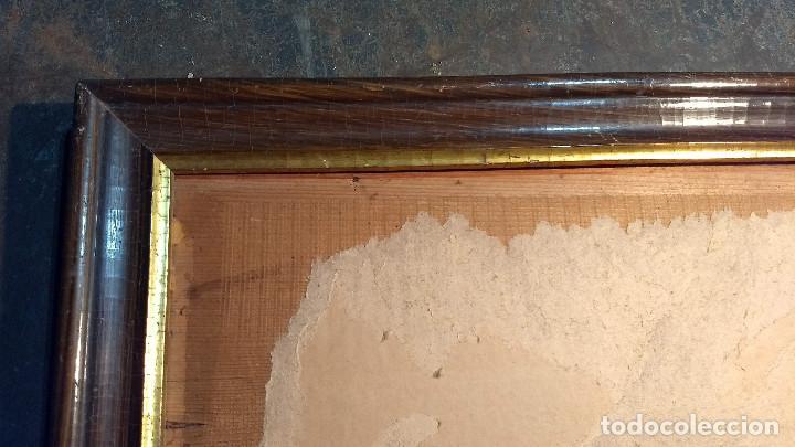 Antigüedades: Marco madera, barniz craquelado - Foto 3 - 211699403
