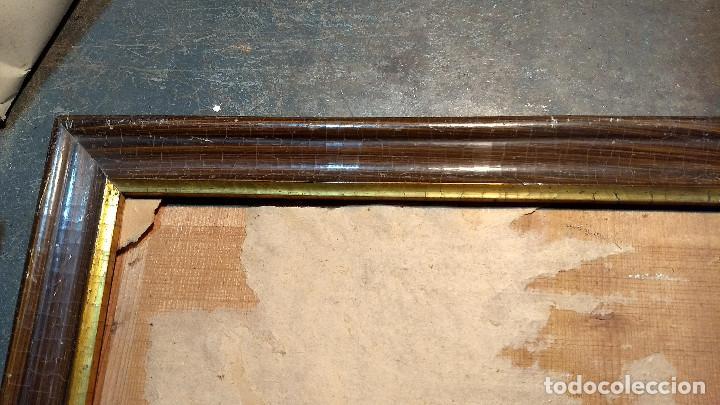 Antigüedades: Marco madera, barniz craquelado - Foto 5 - 211699403
