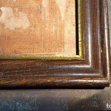 Antigüedades: MARCO MADERA, BARNIZ CRAQUELADO. Lote 211699403
