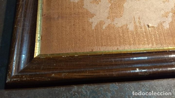 Antigüedades: Marco madera, barniz craquelado - Foto 6 - 211699403