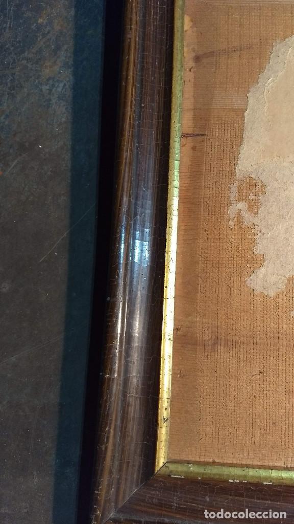 Antigüedades: Marco madera, barniz craquelado - Foto 7 - 211699403