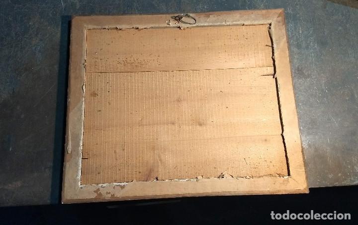 Antigüedades: Marco madera, barniz craquelado - Foto 9 - 211699403