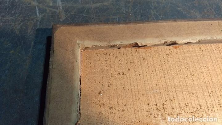 Antigüedades: Marco madera, barniz craquelado - Foto 10 - 211699403