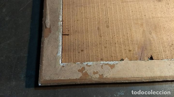 Antigüedades: Marco madera, barniz craquelado - Foto 13 - 211699403