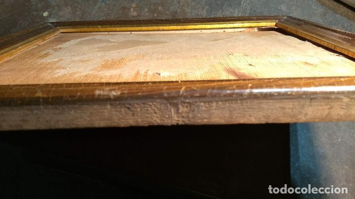 Antigüedades: Marco madera, barniz craquelado - Foto 14 - 211699403