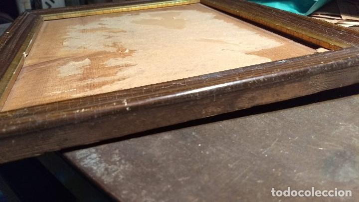 Antigüedades: Marco madera, barniz craquelado - Foto 17 - 211699403