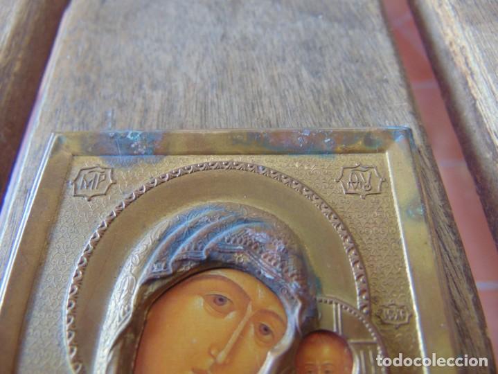 Antigüedades: PEQUEÑO ICONO EN METAL Y PLASTICO RUSO ?? - Foto 2 - 211700708