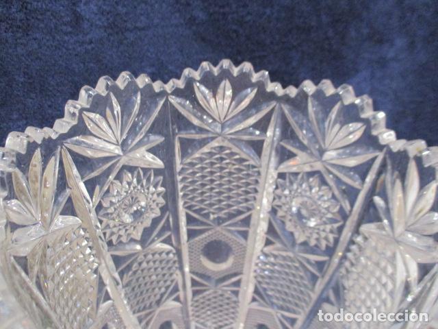 Antigüedades: Precioso JARRÓN CRISTAL TALLADO DE BOHEMIA. - Foto 7 - 211719380