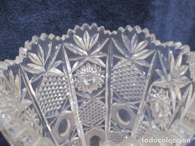 Antigüedades: Precioso JARRÓN CRISTAL TALLADO DE BOHEMIA. - Foto 8 - 211719380