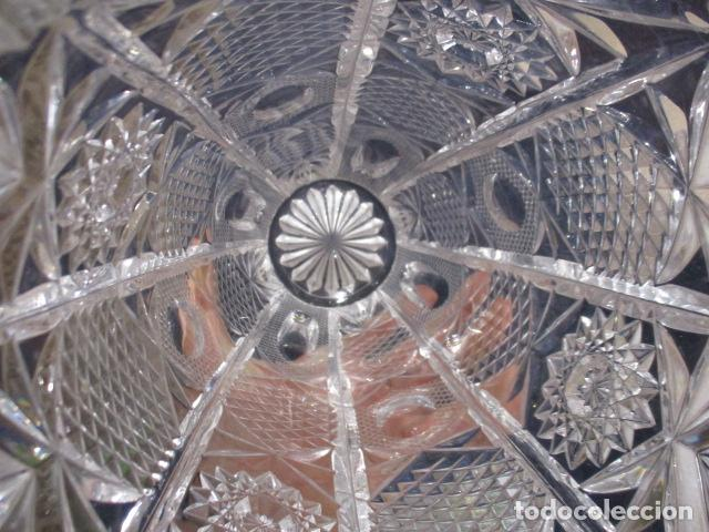Antigüedades: Precioso JARRÓN CRISTAL TALLADO DE BOHEMIA. - Foto 9 - 211719380