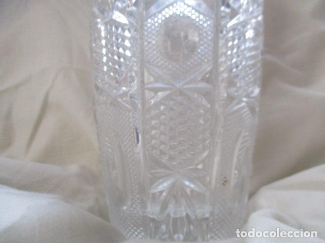 Antigüedades: Precioso JARRÓN CRISTAL TALLADO DE BOHEMIA. - Foto 14 - 211719380
