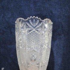 Antigüedades: PRECIOSO JARRÓN CRISTAL TALLADO DE BOHEMIA.. Lote 211719380