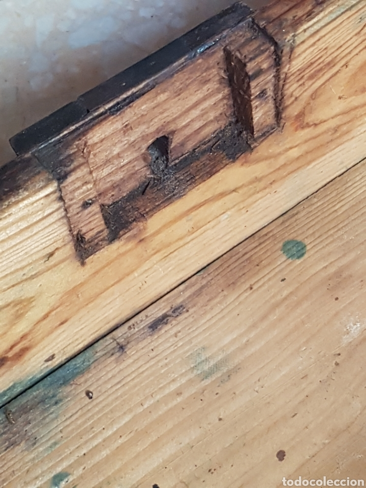 Antigüedades: Caja pequeña joyero de madera de pino - Foto 8 - 211719331