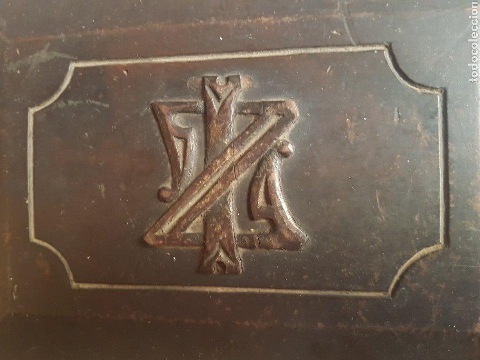 Antigüedades: Caja pequeña joyero de madera de pino - Foto 3 - 211719331