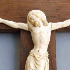 Antigüedades: ANTIGUO CRISTO DE MARFIL PPIO.S.XX. Lote 211723380