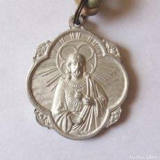 Antigüedades: MEDALLA MARIA AUXILIADORA Y SAGRADO CORAZON DE JESÚS. Lote 211752605