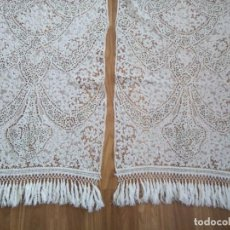 Antiquités: *CORTINAS BORDADAS A MANO. (RF:535/D). Lote 211777317
