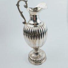 Antigüedades: JARRA GALLONADA EN PLATA. 504GR. Lote 211781658