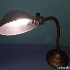 Antigüedades: ANTIGUA LAMPARA DE FLEXO MARCA PME AÑOS 30/40 FUNCIONA. Lote 211798012