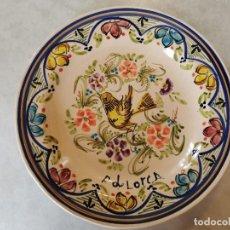 Antiquités: ANTIGUO PLATO DE LORCA HECHO Y PINTADO A MANO FIRMADO J PLAYA 31 CM. Lote 211799336
