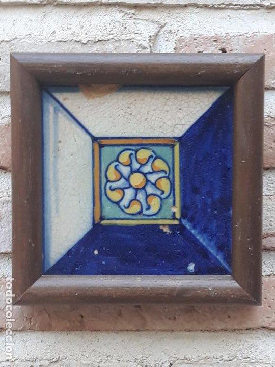 AZULEJO ANTIGUO DE TALAVERA / TOLEDO - RENACIMIENTO - SIGLO XVI - (Antigüedades - Porcelanas y Cerámicas - Azulejos)