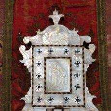 Antigüedades: BENDITERA DE NÁCAR S.XIX JERUSALÉN GRAN TAMAÑO. Lote 211853623