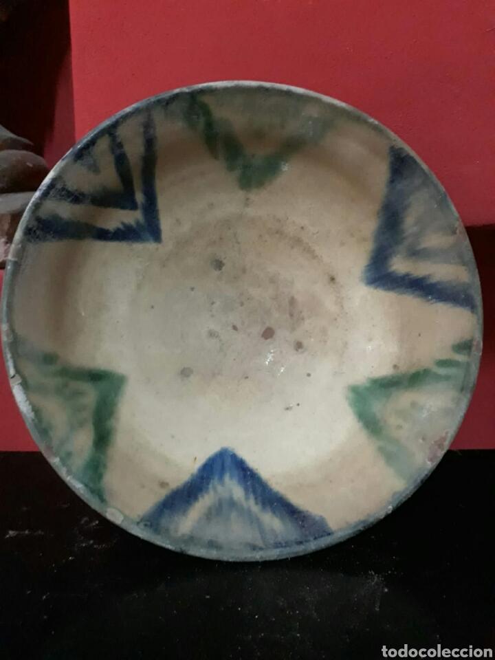Antigüedades: Lebrillo de ceramica o cuenco de teruel finales siglo XVII o principios siglo XIX - Foto 4 - 211892097