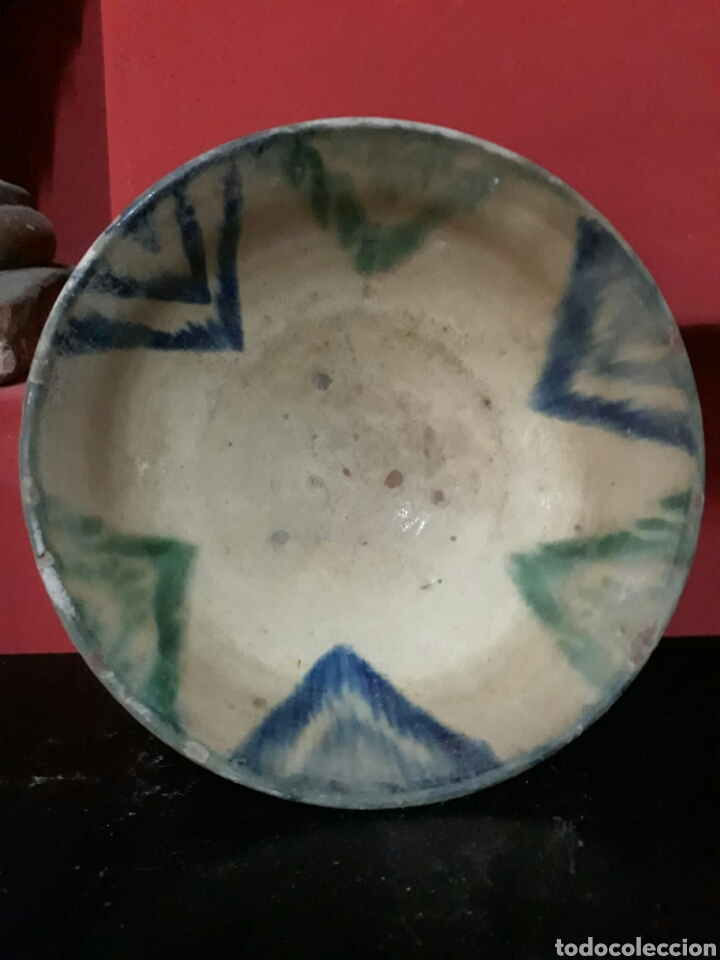 Antigüedades: Lebrillo de ceramica o cuenco de teruel finales siglo XVII o principios siglo XIX - Foto 5 - 211892097