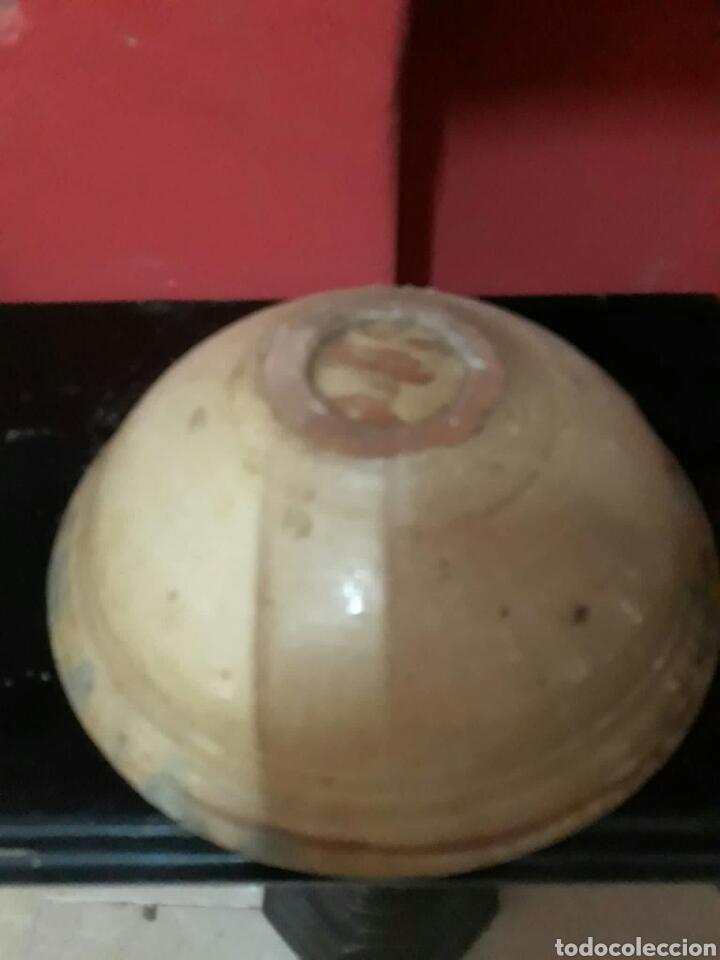 Antigüedades: Lebrillo de ceramica o cuenco de teruel finales siglo XVII o principios siglo XIX - Foto 6 - 211892097