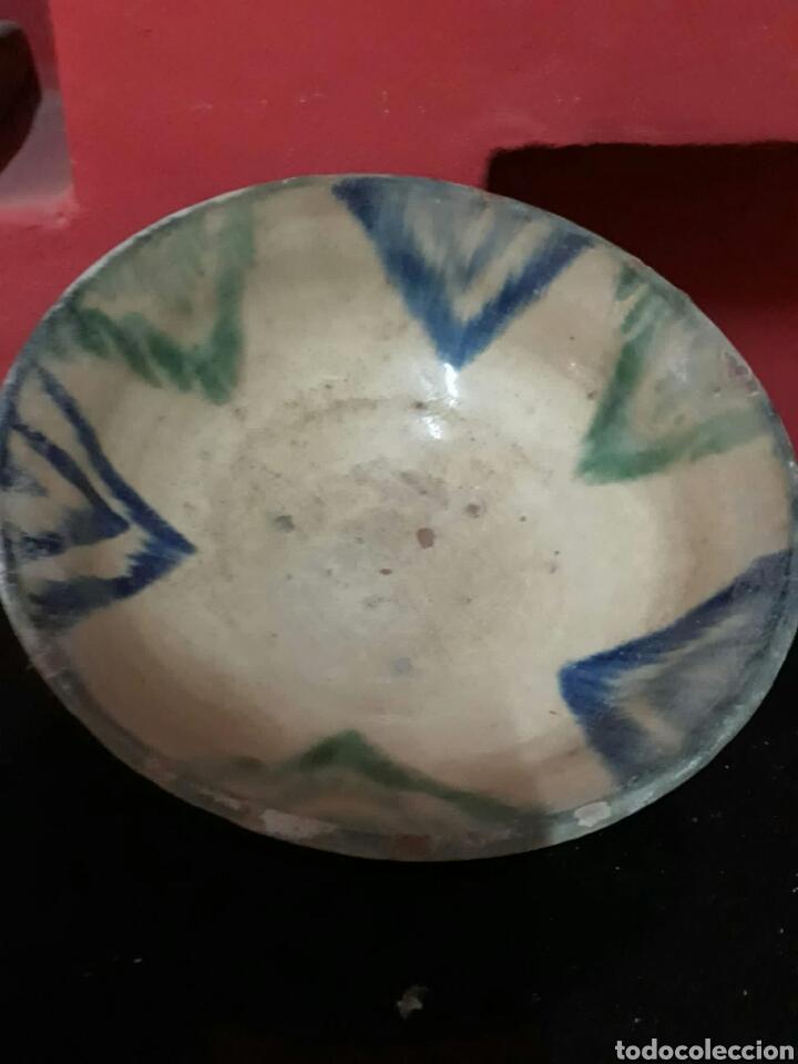 Antigüedades: Lebrillo de ceramica o cuenco de teruel finales siglo XVII o principios siglo XIX - Foto 7 - 211892097