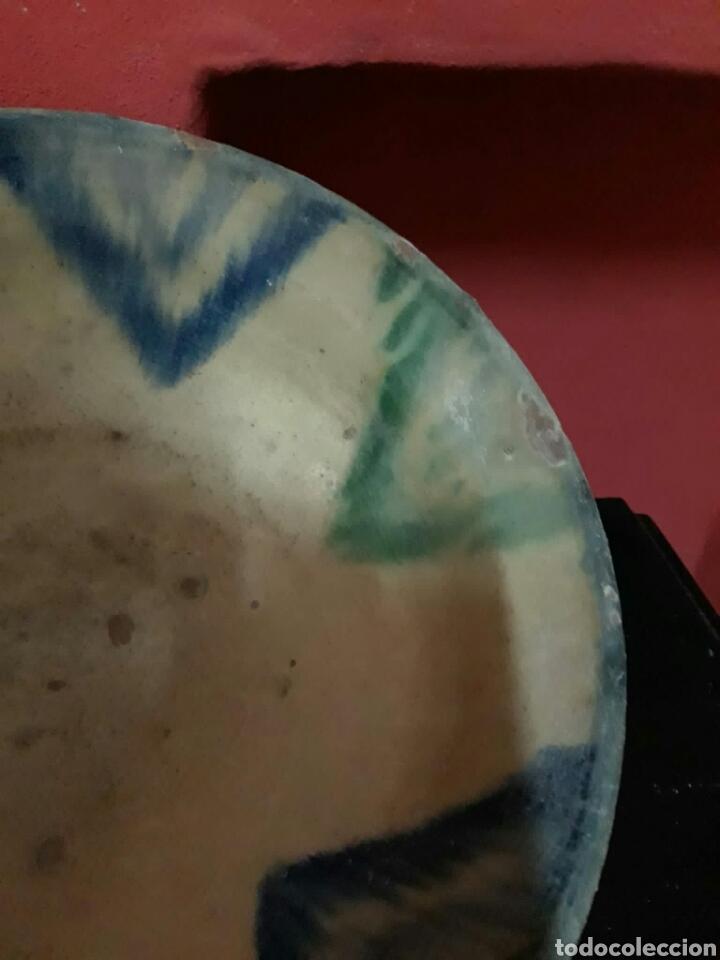 Antigüedades: Lebrillo de ceramica o cuenco de teruel finales siglo XVII o principios siglo XIX - Foto 8 - 211892097