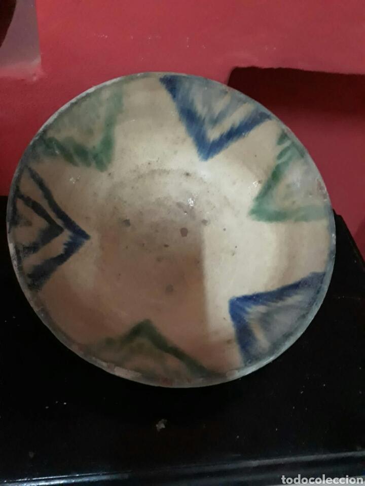 Antigüedades: Lebrillo de ceramica o cuenco de teruel finales siglo XVII o principios siglo XIX - Foto 10 - 211892097