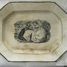 Antigüedades: GRAN FUENTE O BANDEJA OCHAVADA DE LAS AMISTADES CARTAGENA - SERIE ROMANTICA -. Lote 211907921