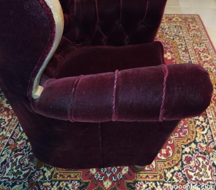 Antigüedades: Bonita pareja de sillones Chester. Siglo XIX. - Foto 7 - 211921998