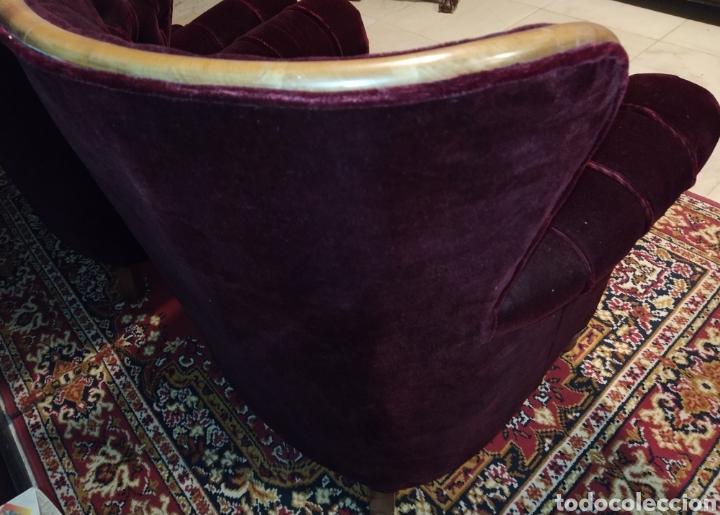 Antigüedades: Bonita pareja de sillones Chester. Siglo XIX. - Foto 9 - 211921998