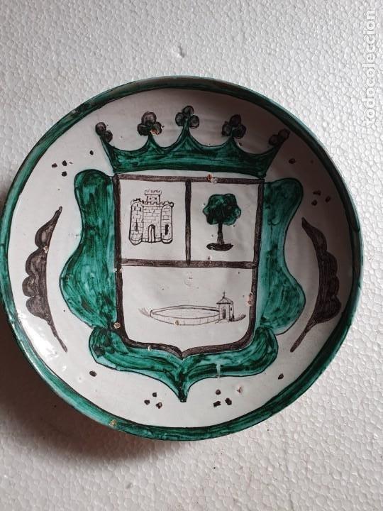 PLATO DE CERAMICA DE TERUEL (Antigüedades - Porcelanas y Cerámicas - Teruel)