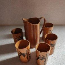Antigüedades: JUEGO DE JARRA Y 5 VASOS JAPON. Lote 211941177
